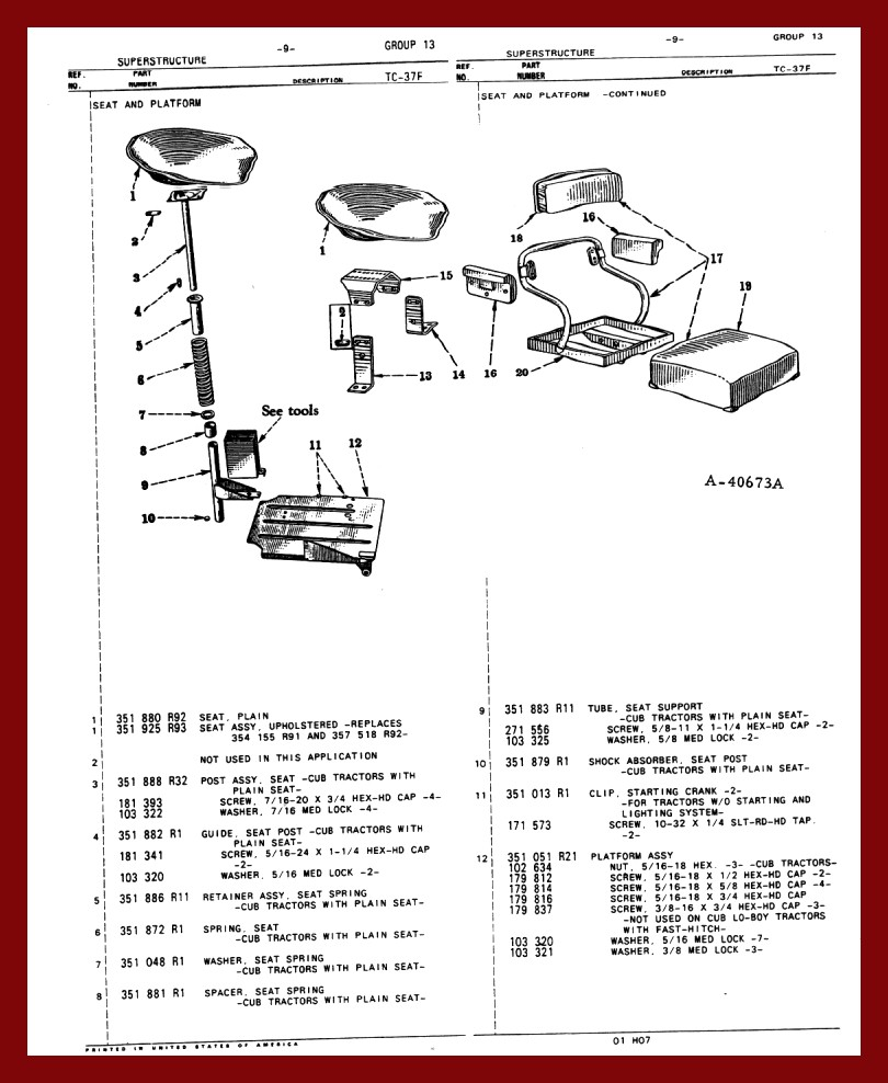 farmall cub chassis. Black Bedroom Furniture Sets. Home Design Ideas
