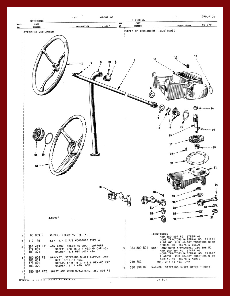 farmall cub steering / front axle farmall wiring schematic h farmall steering schematic